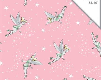 Stretchy Disney TinkerBell Cotton Knit fabric