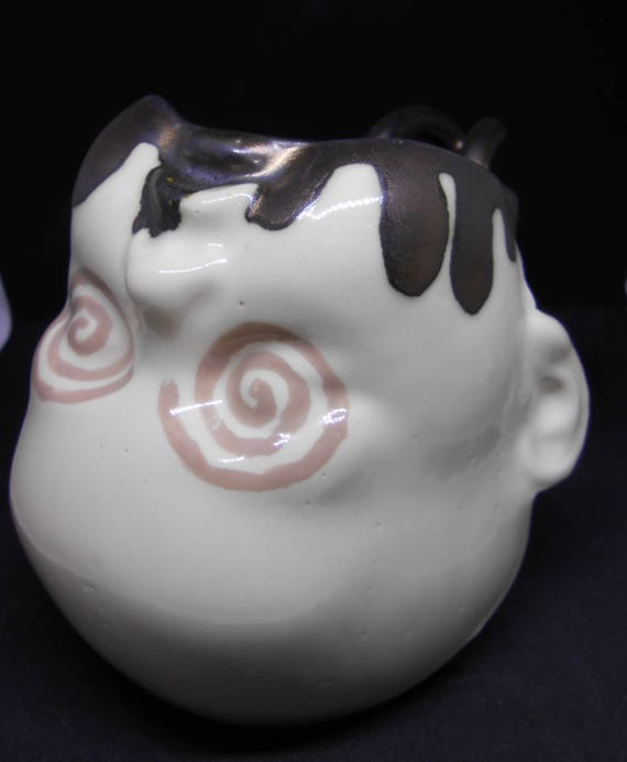 Swirl Eyed Baby Headed Clay Mug