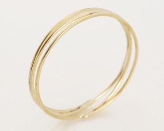 SALE, Double Bangle, Skinny Gold Bracelets, Bangle Bracelets, Boho Bracelets, Boho Jewelry, Boho Bangle, Textured Gold Bracelet, For Her