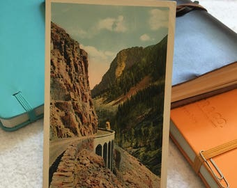 Vintage Golden Gate Canyon Yellowstone National Park Postcard