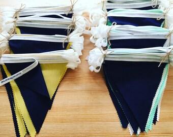 Navy blue bunting, Navy wedding bunting, Wedding bunting, Pale bunting, Wedding banner, Pastel bunting, Fabric bunting, Hochzeit decoration