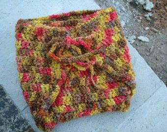 Custom Designed, Hand-Dyed, Boys Wool Wrap Soaker, Diaper Cover - Sunnyside 382