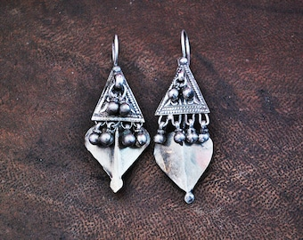 Rajasthani Silver Earrings - Rajasthani Jewelry - Indian Tribal Silver Earrings - Indian Tribal Earrings - Ethnic Earrings