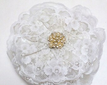 White Lace Head Covering, Lace Yarmulke, Jewish Wedding Kippah
