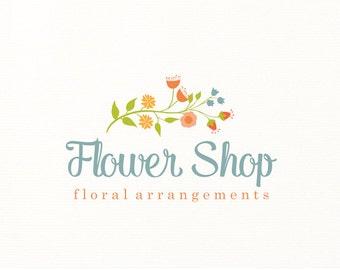 flowers logo floral premade logo design - Logo Design #109