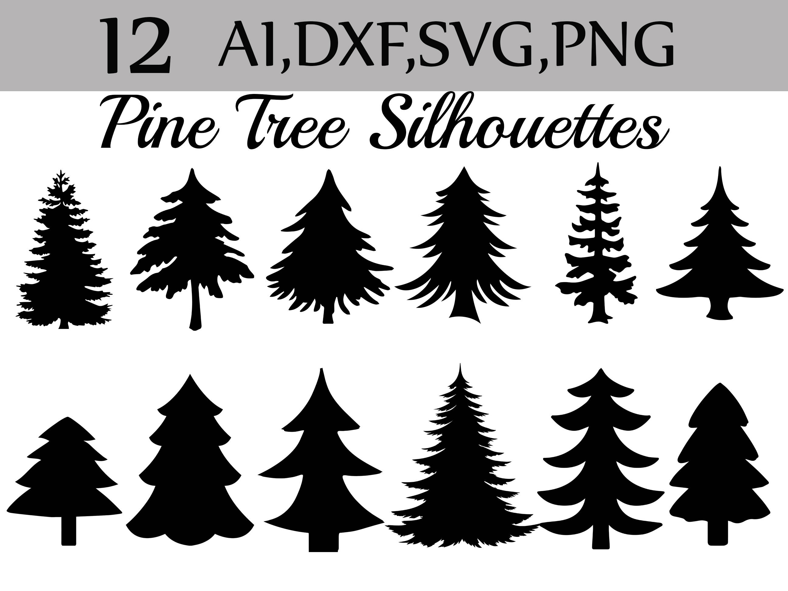 Svg Pine Tree Clipart: SILHOUETTES PINE TREE