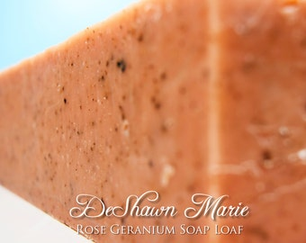 SOAP - 3.5 lb Rose Geranium Handmade Soap Loaf, Wholesale Soap Loaves, Vegan Soap, Cold Processed Soap, Natural Soap, FREE SHIPPING