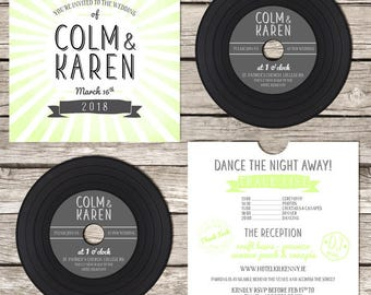 Retro CD 'Vinyl' Wedding Invitation