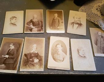 Antique photo cards - Victorian  / Edwardian