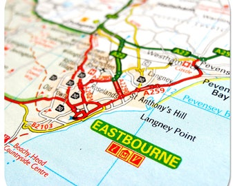 Eastbourne Map Coasters and Other Merchandise