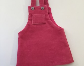 "14.5"" Doll Clothes - Pink Corduroy Jumper - To fit Wellie Wishers"