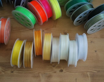 "30 YDs x 3mm(app.1/8""), 7mm(app.1/4"") Double Faced High Density Satin Ribbon (57 Colors)"