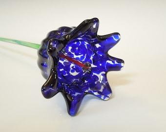 Cobalt Blue Glass Flower