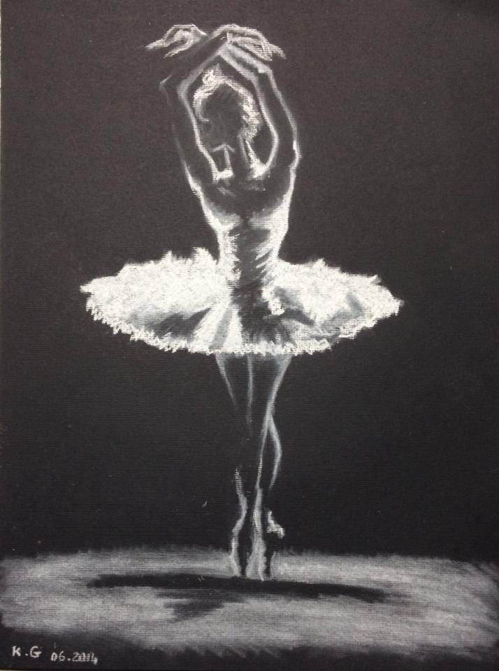 la danseuse toile jeu de lumi re dessin au pastel blanc sur. Black Bedroom Furniture Sets. Home Design Ideas