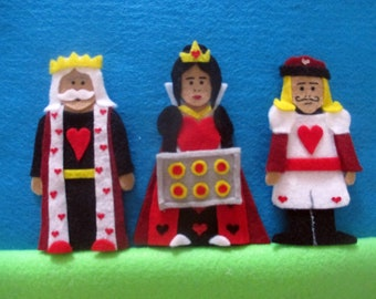 Queen of Hearts/ Mother Goose/ Nursery Rhyme/ Finger Puppets/ African American