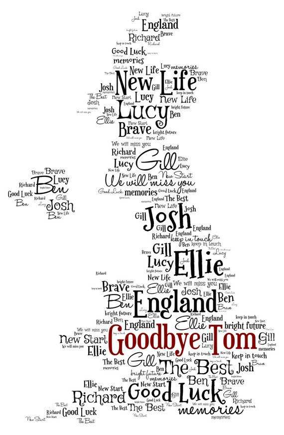 Personalised word art map of the uk design a4 print or like this item gumiabroncs Choice Image