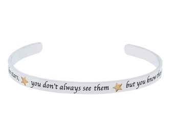 "Stainless Steel ""Good Friends Are Like Stars, You Don't Always See Them But You Know They Are Always There"" Friendship Bracelet"