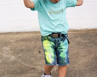 Boys Razzles 2.0 shorties distressed Shorts CHOOSE YOUR COLOR distressed denim ripped jeans 3/6 mo to size 16