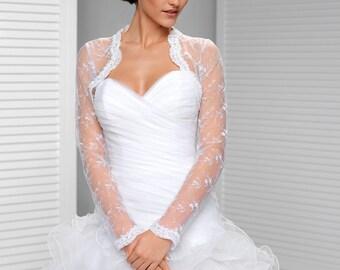 Long sleeve Bridal Wedding Bolero Wedding Shrug
