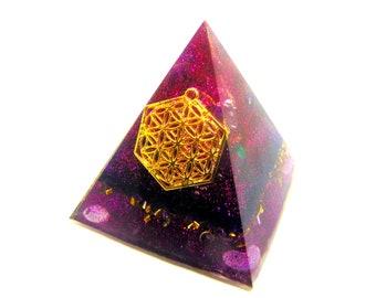 Orgone pyramide énergétique Fleur de vie