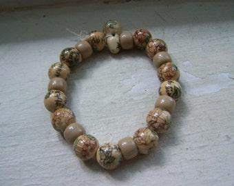 Ceramic Hand Painted Prayer Beads Beautiful