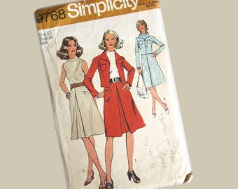 Simplicity Dress Pattern, Miss size 12, Bust 34