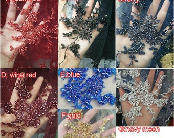 0.9X1.3 meter wide 7color sequins beads mesh dress fabric lace embroidered veil cloth clothing F24R34P0130Y free ship