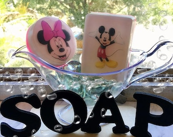Mickey and Minnie Pictures Soaps/ Party Favors/ Kids Party/ Gift/