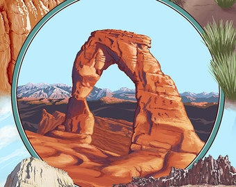 Utah - Delicate Arch Montage (Art Prints available in multiple sizes)