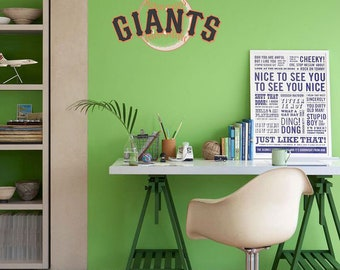 San Fransisco Giants Baseball Sports Color Sticker Decal