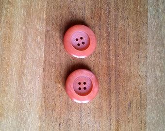 Lot 2 buttons Orange T27