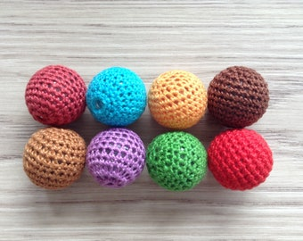 Beads crochet 23.5 mm assortment of 8 colors