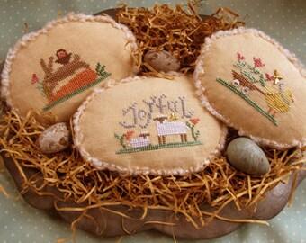 PFC-100  Spring Eggs III~Cross Stitch Pattern