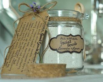All Natural Facial Scrub  -  12oz  Lavender + Lemon