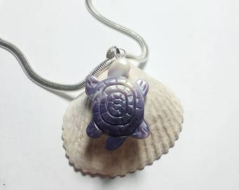 1 Turtle Pendant with sterling silver chain*promo photo