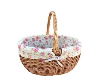Deluke Wicker Shopping Basket
