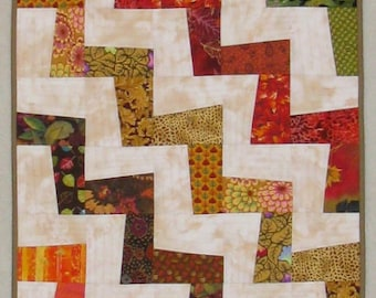 """Quilted Wall Hanging - """"Autumn Angles"""""""
