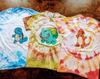 Pick a Pokemon Tie Dye Shirt