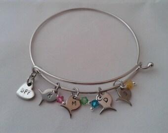 Friendship Bangle Bracelet (s), custom, personalized,