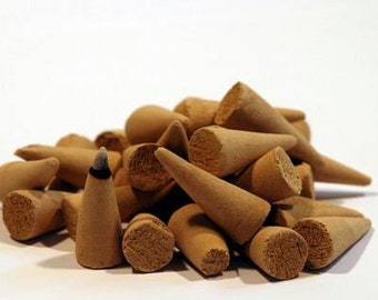 100 Handmade Incense Cones.  Pick from over 30 scents!