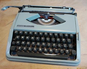 Vintage Hermes Baby Typewriter, Industrial 1960s Working, portable typewriter