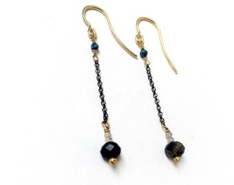 Silver and Tourmaline Earrings