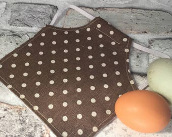 Large Chicken Saddle // Chicken Apron // Hen Saddle // Hen Apron // Feather Protector // Poultry Apron // Poultry Saddle // Chicken Keeping