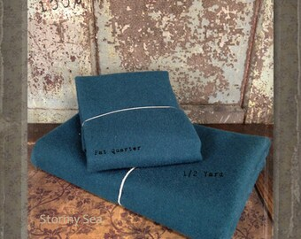 Wool: Half Yard 100% Wool - STORMY SEA - Marcus Fabrics
