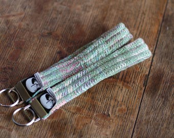 Handwoven key fob / Midsummer Night's Dream / stocking stuffer / wrap scrap keyfob / made in alaska / key chain / wristlet keyfob /