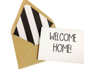 Welcome Home Card // Housewarming Card // Congrats Card // New Home Card // New House Card // Military Card // Welcome Home Greeting Card