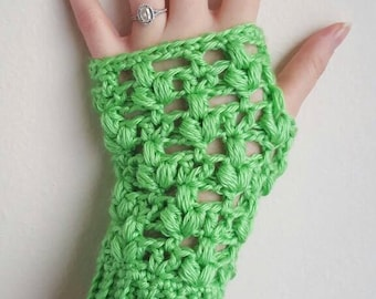 Clover Puff Fingerless Gloves - PDF DOWNLOAD ONLY - Instant Download