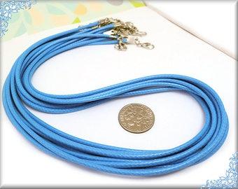 10 Ocean Blue Cord Necklaces