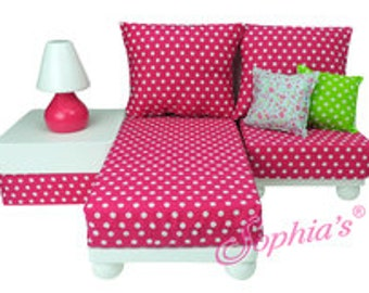 """Chaise Lounge Sofa Sectional for 18"""" Dolls"""