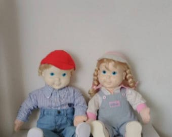 Vintage  my buddy and kids sister dolls 22in